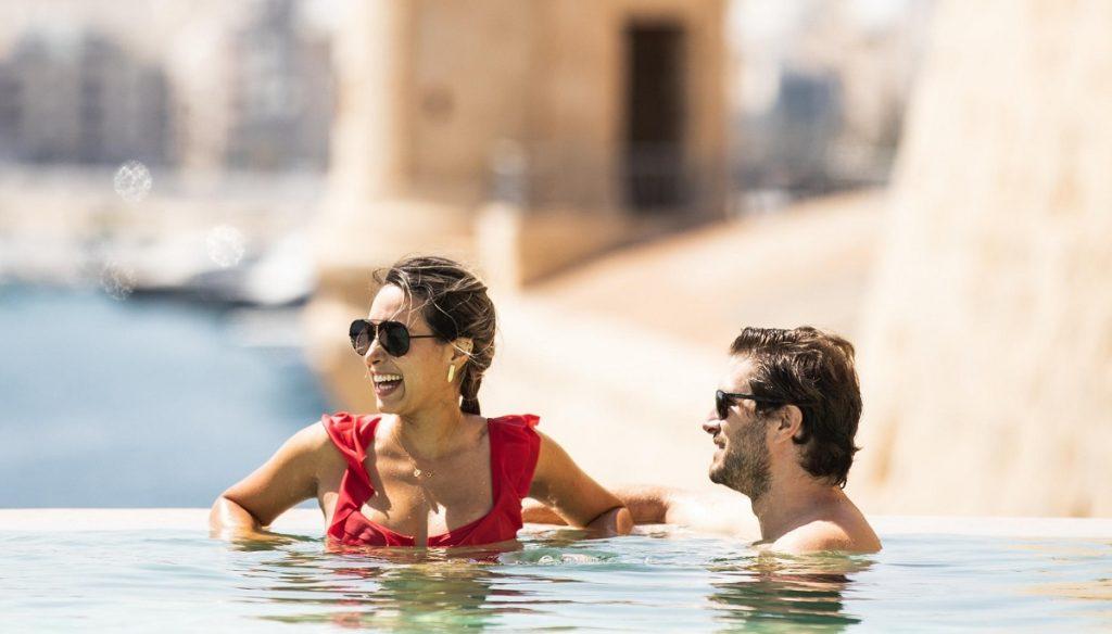 Poolside at The Phoenicia Malta Valletta