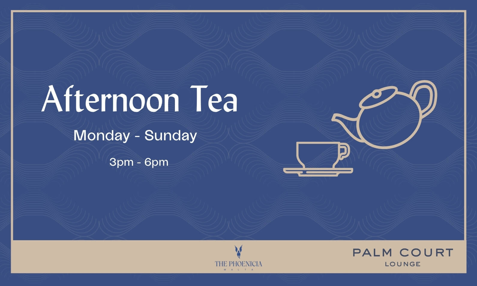 Afternoon Tea in the Palm Court Lounge