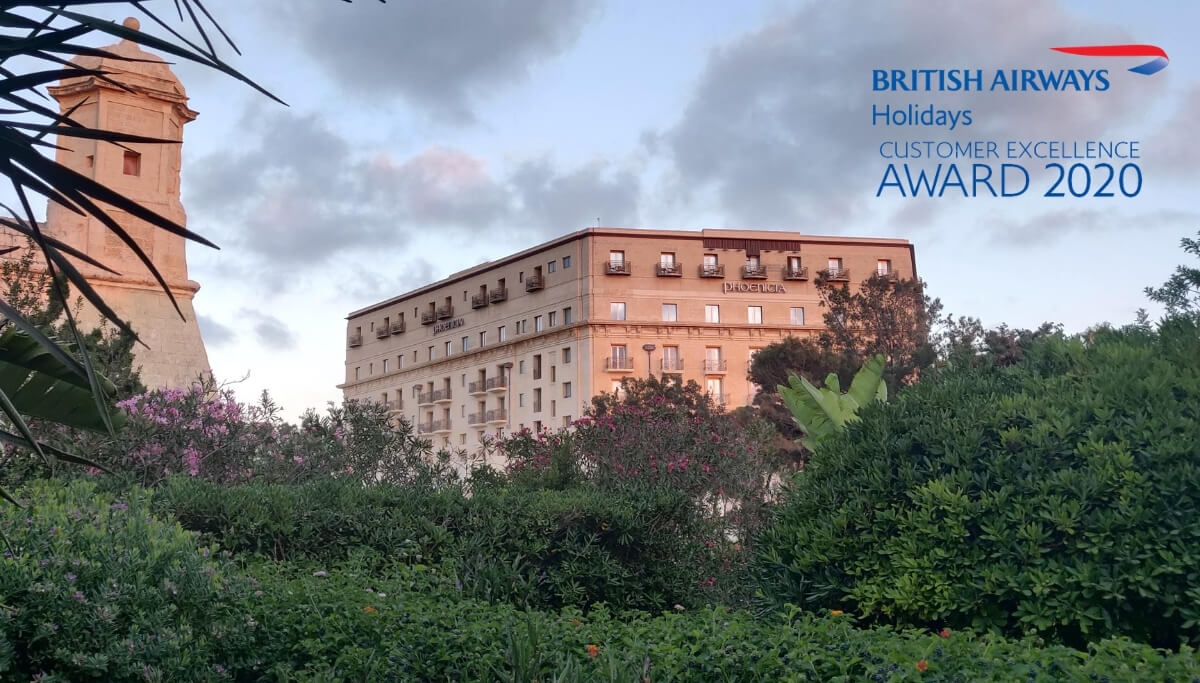 British Airways Holiday - Certificate of Excellence Award - The Phoenicia Malta