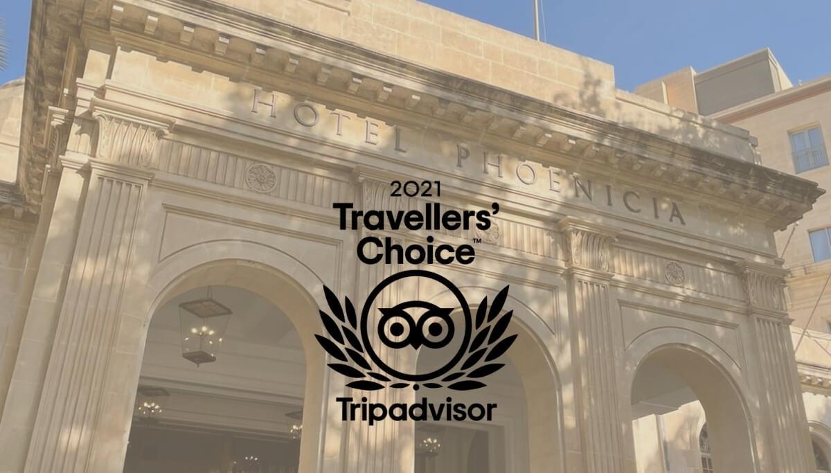 The Phoenicia Malta - TripAdvisor Travellers' Choice Award 2021